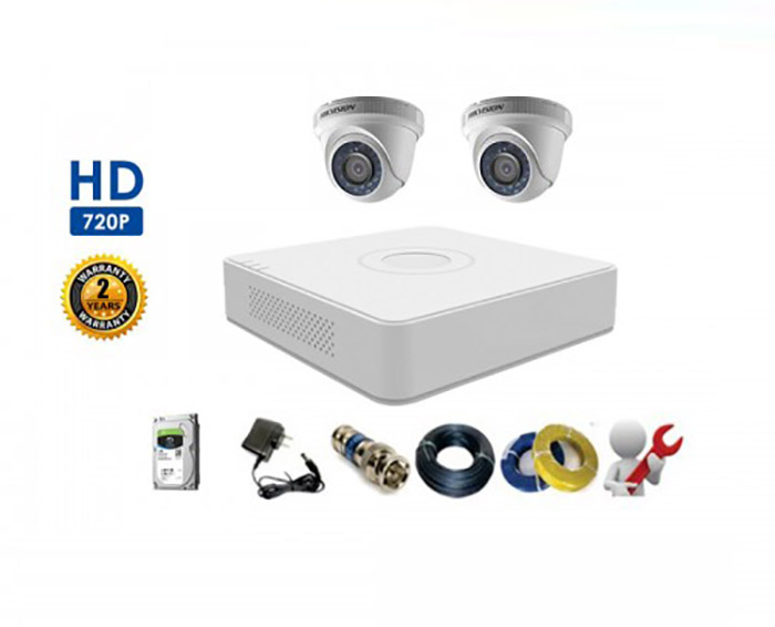 Image Bộ 2 Camera Dome HIKVISION 1.0MP