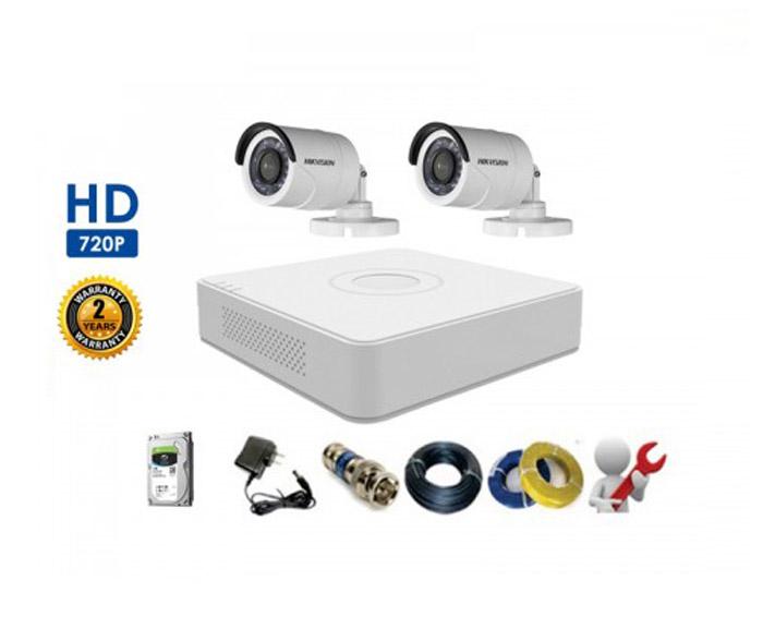 Bộ 2 Camera Thân HIKVISION 1.0MP