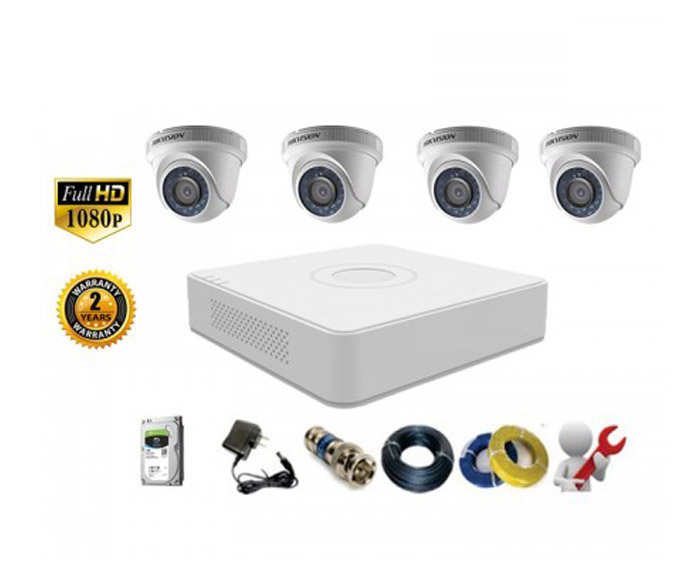 Image Bộ 4 Camera Dome HIKVISION 2.0MP