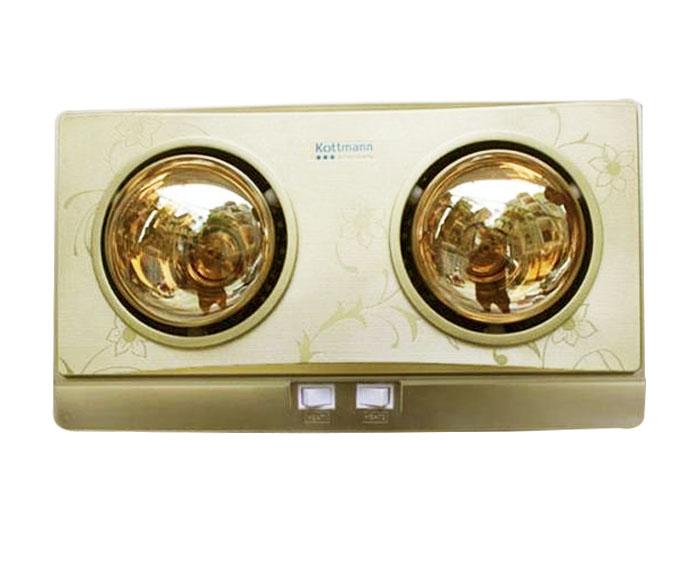 Đèn sưởi nhà tắm Kottmann 2 bóng K2B-G