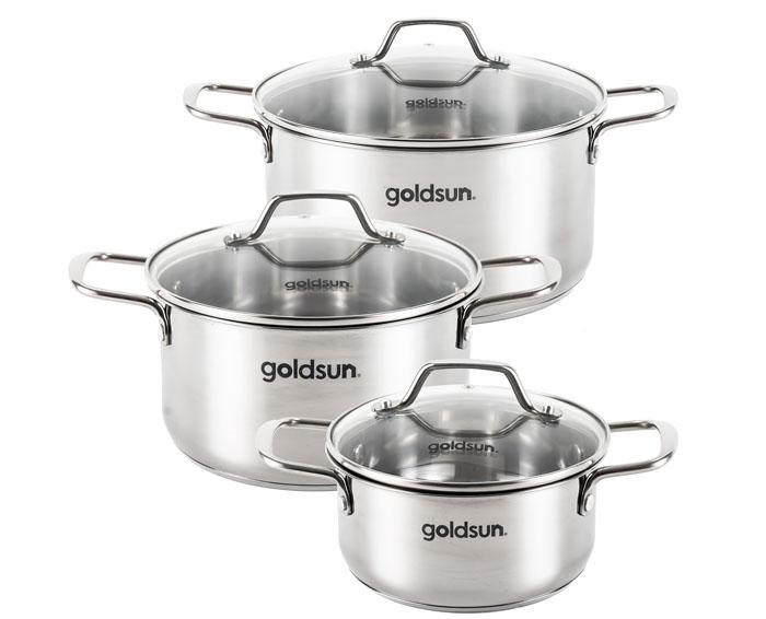 Bộ nồi inox Goldsun GD18-3306SG