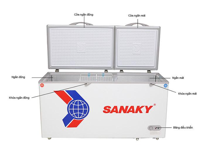 Image Tủ đông Sanaky VH-668W1 500 lít